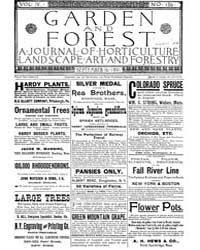Garden and Forest Volume 4 Issue 186 Sep... by Charles S. Sargent