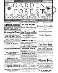 Garden and Forest Volume 4 Issue 188 Sep... by Charles S. Sargent