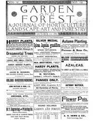 Garden and Forest Volume 4 Issue 190 Oct... by Charles S. Sargent