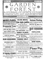 Garden and Forest Volume 4 Issue 191 Oct... by Charles S. Sargent