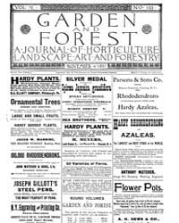 Garden and Forest Volume 4 Issue 193 Nov... by Charles S. Sargent
