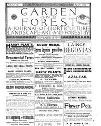 Garden and Forest Volume 4 Issue 195 Nov... by Charles S. Sargent