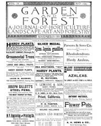 Garden and Forest Volume 4 Issue 196 Nov... by Charles S. Sargent