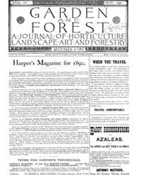 Garden and Forest Volume 4 Issue 198 Dec... by Charles S. Sargent