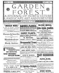 Garden and Forest Volume 4 Issue 199 Dec... by Charles S. Sargent