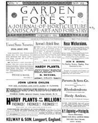 Garden and Forest Volume 5 Issue 202 Jan... by Charles S. Sargent