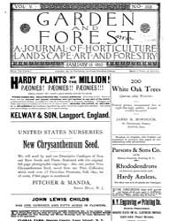 Garden and Forest Volume 5 Issue 203 Jan... by Charles S. Sargent