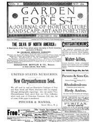 Garden and Forest Volume 5 Issue 204 Jan... by Charles S. Sargent