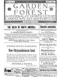Garden and Forest Volume 5 Issue 205 Jan... by Charles S. Sargent