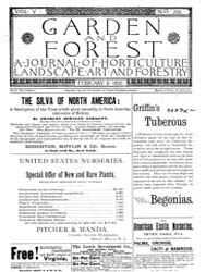 Garden and Forest Volume 5 Issue 206 Feb... by Charles S. Sargent
