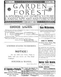 Garden and Forest Volume 5 Issue 208 Feb... by Charles S. Sargent