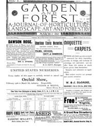 Garden and Forest Volume 5 Issue 210 Mar... by Charles S. Sargent