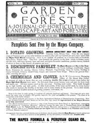 Garden and Forest Volume 5 Issue 213 Mar... by Charles S. Sargent