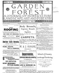Garden and Forest Volume 5 Issue 215 Apr... by Charles S. Sargent