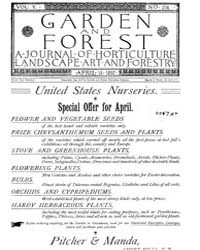 Garden and Forest Volume 5 Issue 216 Apr... by Charles S. Sargent