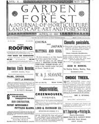 Garden and Forest Volume 5 Issue 217 Apr... by Charles S. Sargent