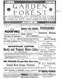 Garden and Forest Volume 5 Issue 220 May... by Charles S. Sargent