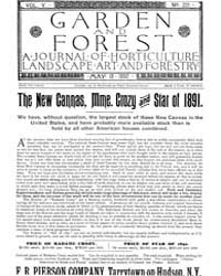 Garden and Forest Volume 5 Issue 221 May... by Charles S. Sargent