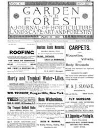 Garden and Forest Volume 5 Issue 222 May... by Charles S. Sargent