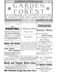 Garden and Forest Volume 5 Issue 224 Jun... by Charles S. Sargent