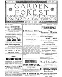 Garden and Forest Volume 5 Issue 225 Jun... by Charles S. Sargent