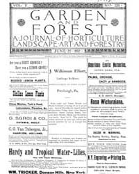 Garden and Forest Volume 5 Issue 226 Jun... by Charles S. Sargent