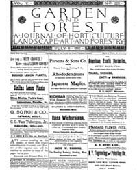Garden and Forest Volume 5 Issue 228 Jul... by Charles S. Sargent