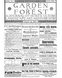 Garden and Forest Volume 5 Issue 229 Jul... by Charles S. Sargent