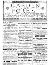 Garden and Forest Volume 5 Issue 231 Jul... by Charles S. Sargent