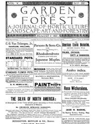 Garden and Forest Volume 5 Issue 232 Aug... by Charles S. Sargent