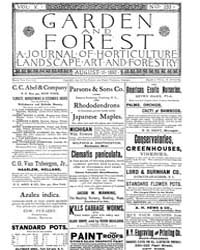 Garden and Forest Volume 5 Issue 233 Aug... by Charles S. Sargent