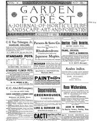 Garden and Forest Volume 5 Issue 234 Aug... by Charles S. Sargent