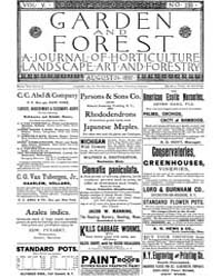 Garden and Forest Volume 5 Issue 235 Aug... by Charles S. Sargent