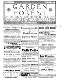 Garden and Forest Volume 5 Issue 236 Aug... by Charles S. Sargent