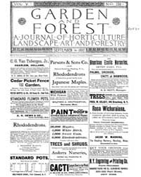 Garden and Forest Volume 5 Issue 238 Sep... by Charles S. Sargent