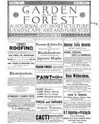 Garden and Forest Volume 5 Issue 240 Sep... by Charles S. Sargent