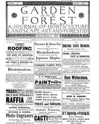 Garden and Forest Volume 5 Issue 242 Oct... by Charles S. Sargent