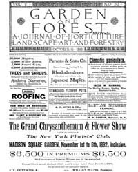 Garden and Forest Volume 5 Issue 243 Oct... by Charles S. Sargent