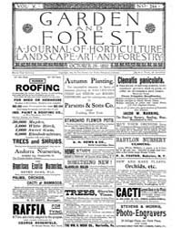 Garden and Forest Volume 5 Issue 244 Oct... by Charles S. Sargent
