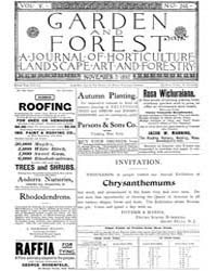 Garden and Forest Volume 5 Issue 245 Nov... by Charles S. Sargent