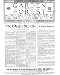 Garden and Forest Volume 5 Issue 246 Nov... by Charles S. Sargent