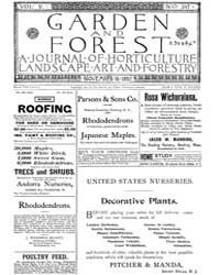 Garden and Forest Volume 5 Issue 247 Nov... by Charles S. Sargent