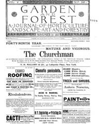 Garden and Forest Volume 5 Issue 248 Nov... by Charles S. Sargent