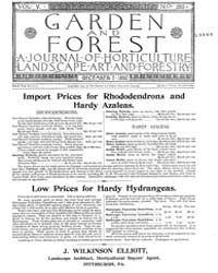 Garden and Forest Volume 5 Issue 250 Dec... by Charles S. Sargent