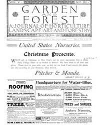 Garden and Forest Volume 5 Issue 251 Dec... by Charles S. Sargent