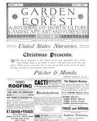 Garden and Forest Volume 5 Issue 252 Dec... by Charles S. Sargent