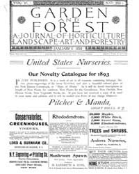 Garden and Forest Volume 6 Issue 255 Jan... by Charles S. Sargent