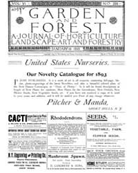 Garden and Forest Volume 6 Issue 256 Jan... by Charles S. Sargent