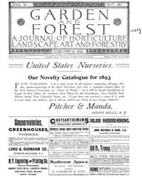 Garden and Forest Volume 6 Issue 257 Jan... by Charles S. Sargent