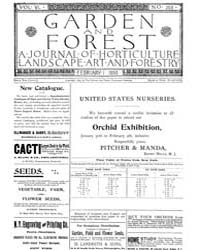 Garden and Forest Volume 6 Issue 258 Feb... by Charles S. Sargent